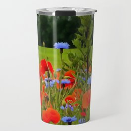 Poppies And Cornflowers Travel Mug