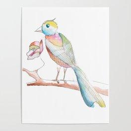 Watercolor Bird  Poster