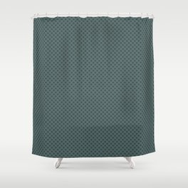 PPG Glidden Trending Colors of 2019 Night Watch PPG1145-7 Polka Dots on Juniper Berry Green PPG1145- Shower Curtain