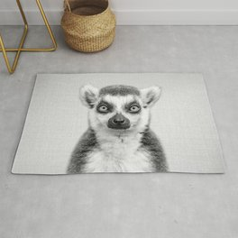 Lemur 2 - Black & White Rug