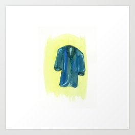 Blue Coat Art Print