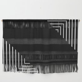 Modern Black and White Geometrical Patterns Wall Hanging