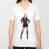 britney V-neck T-shirts featuring Britney by eriicms