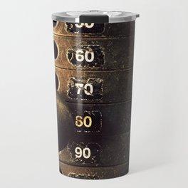 Eighty Weight Stack Texture Travel Mug