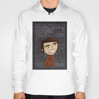 sagan Hoodies featuring Carl Sagan by Stephanie Fizer Coleman