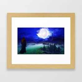 Commander Lexa overlooks Polis Framed Art Print
