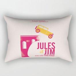 Jules et Jim, François Truffaut, minimal movie Poster, Jeanne Moreau, french film, nouvelle vague Rectangular Pillow