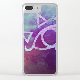 Watercolored Eye of Sheikah Clear iPhone Case