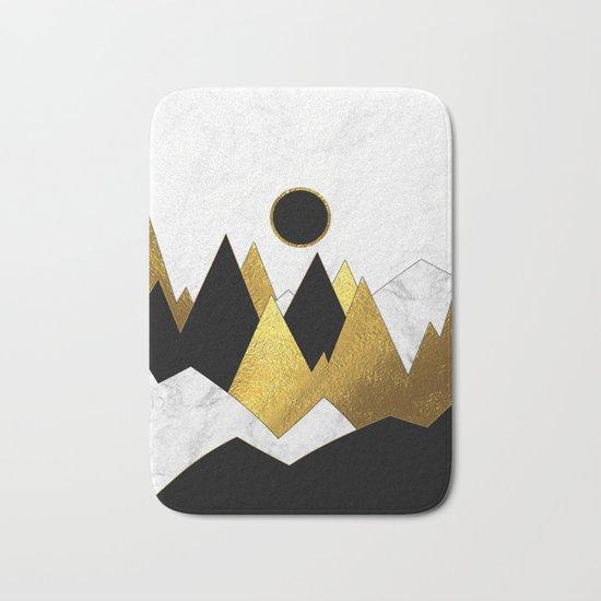 Landscape Marble, Black & Gold Bath Mat