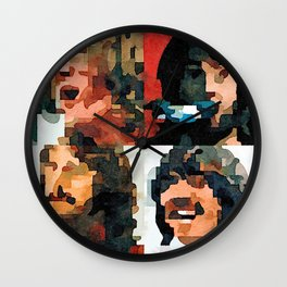 Fab Four Fan Art - Let It Be Watercolor Painting Wall Clock