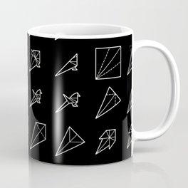 Origami Bird - Step by Step (White) Coffee Mug