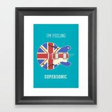 Supersonic Framed Art Print