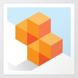 The Geometric - Three Art Print