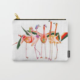 A Flamboyance of Flamingos Carry-All Pouch