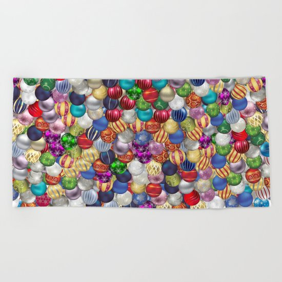 Christmas balls Beach Towel