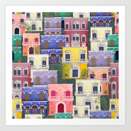 Puerto Rico architecture pattern in spring Art Print