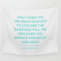 brave Wall Tapestries featuring Brave by Heart of Hearts Designs
