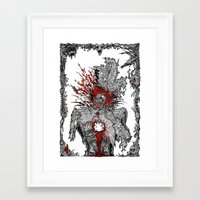 mad hatter Framed Art Prints featuring Mad Hatter by Mongolizer