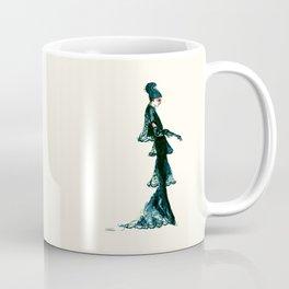 Vintage Vogue - Diesel Blue Fashion Dress Coffee Mug