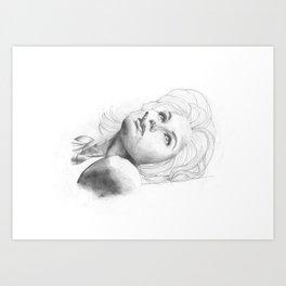 Smoking Beauty Art Print