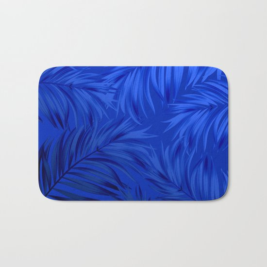 Palm Tree Fronds Brilliant Blue on Blue Hawaii Tropical Décor by sharonmau