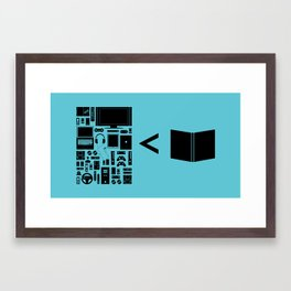 Book Lovers Framed Art Print