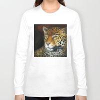 jaguar Long Sleeve T-shirts featuring Jaguar by Claudia Hahn
