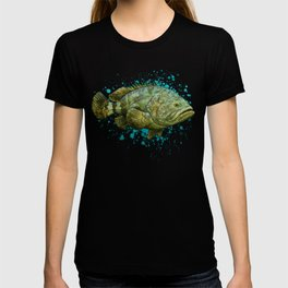 """Goliath Grouper"" by Amber Marine ~ Watercolor Painting, (Copyright 2015) T-shirt"