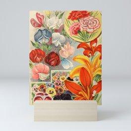 garden 063 Sweet Pea  Pansies  Carnation23 Mini Art Print