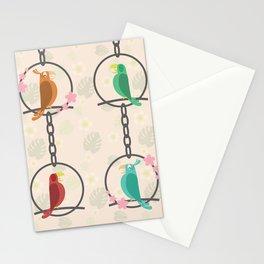 Tiki Birds Light Stationery Cards