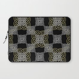 Silver and Gold Celtic Knots Laptop Sleeve