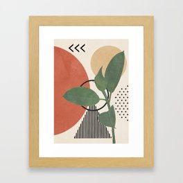 Nature Geometry III Framed Art Print