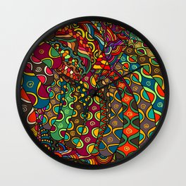 African Style No13, Tribal dance Wall Clock