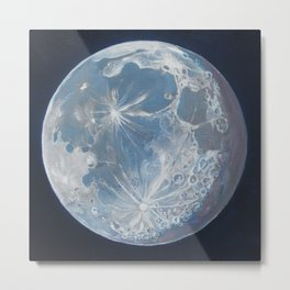 Moon Portrait 6 Metal Print