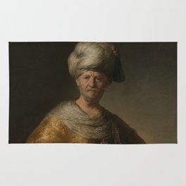 """Rembrandt Harmenszoon van Rijn, """"Man in oriental costume"""", 1632 Rug"""