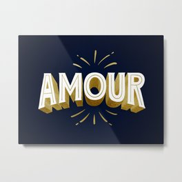 Amour French Metal Print