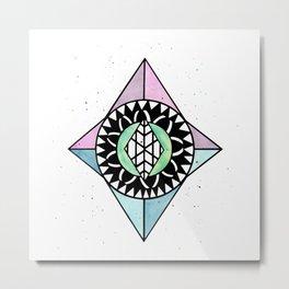 Diamond Shaped Mandala Metal Print
