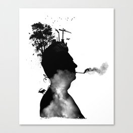 URBAN BLACK MAN Canvas Print
