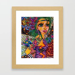I Have Never Seen a Greater Monster or Miracle Than Myself Framed Art Print