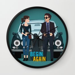 Begin Again Wall Clock