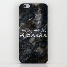 everything starts from a dream iPhone & iPod Skin