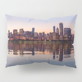 Panorama of the City skyline of Chicago Pillow Sham