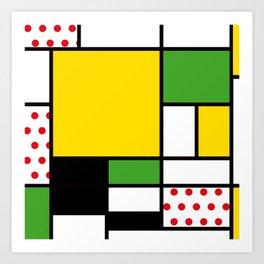 Mondrian - Bycicle Art Print
