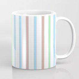 Blue Green Stripes Coffee Mug
