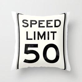 50MPH Throw Pillow