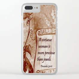 A Virtuous Woman Clear iPhone Case