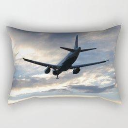 A320 Sunset Landing Rectangular Pillow