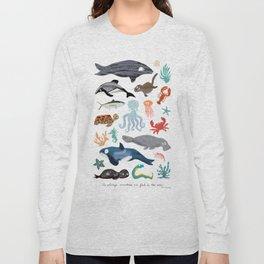 Sea Change: Ocean Animals Long Sleeve T-shirt