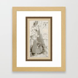 Rustic Guitar Framed Art Print