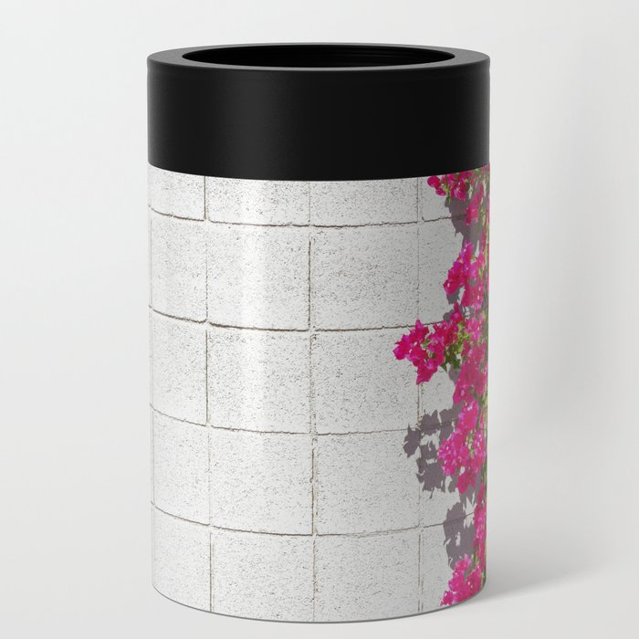 Bougainvilleas and White Brick Wall in Palm Springs, California Can Cooler